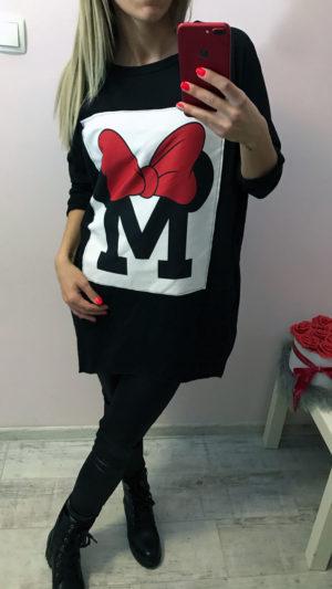 mickey egeres fekete pulóver