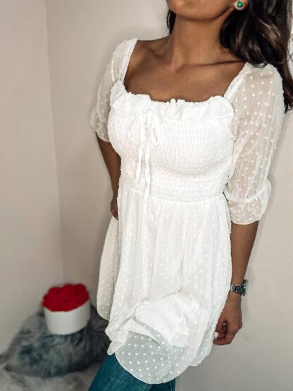 hálós gumírozott ruha