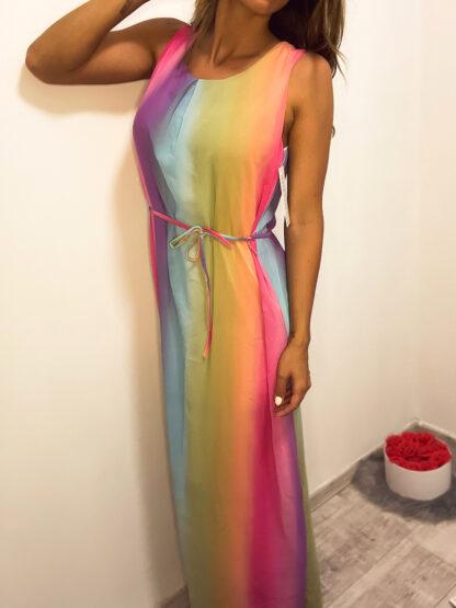 maxi ruha szivárványos